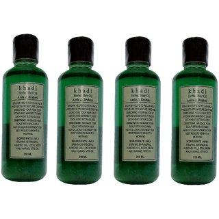 Khadi Amla and Brahmi Hair Oil, 210ml (Pack of 4)