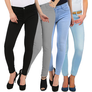 Fuego Fashion Wear Combo Of Women Jeans Pack Of 4