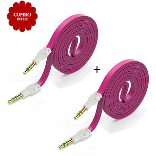 Sketchfab Pack Of 2 Flat Aux Cable - Assorted Color