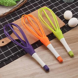 Plastic Balloon Whisk Egg Beater Cream Beater Egg Whisk - 1 Pcs - Assorted