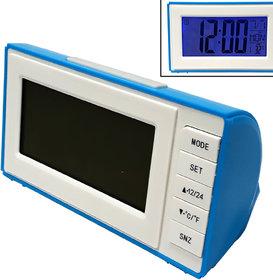 Voice Control Multi-function LCD Digital Table Desk Car Desktop Alarm Clock with Calander Temprature  Day Week Display
