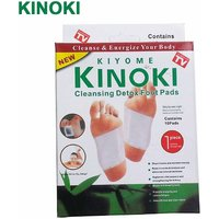 Kinoki Cleansing Detox Foot Patches 10 Adhesive Pads Kit Natural Unwanted Toxins Remover