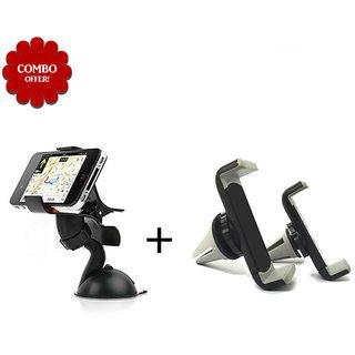 Sketchfab Combo of Universal Single Car holder Air Vent Mobile Holder Suitable for Mobile & Tablet - Assorted Color