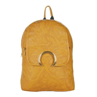 Stylish and Fashionable Khaki Color Backpack By JG Shoppe For WomenGirlsLadies