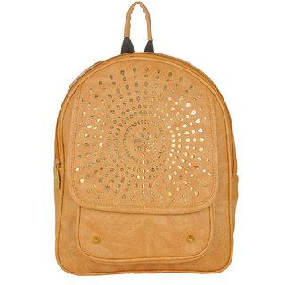 JG Shoppe Beige PU Backpack