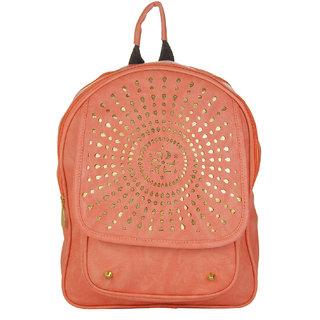 JG Shoppe Pink PU Backpack