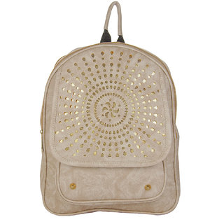 JG Shoppe White PU Backpack