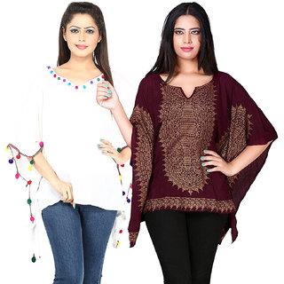 Secret Bazaar Women's Exquisite Rayon Kaftan(Pack of 2 Kaftans)