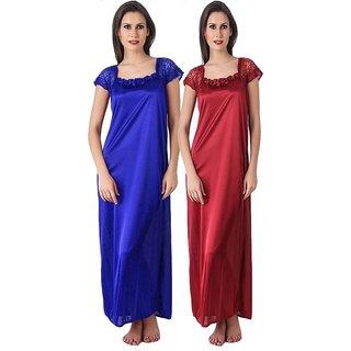 Bijul Pack of two  Women Bridal/Causal night wear,nighty ,night dress