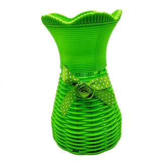 Flower vases by Random  flower vases for living room home decor  flower pots  green vase with a bow in front