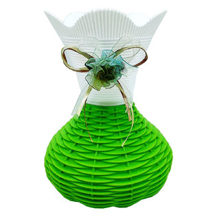Buy Flower vases by Random| flower vases for living room | flower pots | green and white colored with a rounded base Online - Get 43% Off  sc 1 th 225 & Buy Flower vases by Random| flower vases for living room | flower ...