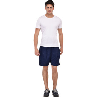 Navy Blue Shorts for Men's by Fashion 7