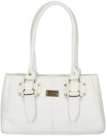 Lady Queen White Faux Leather Shoulder Bag - 127893195