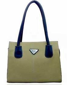 Lady Queen Beige Faux Leather Shoulder Bag