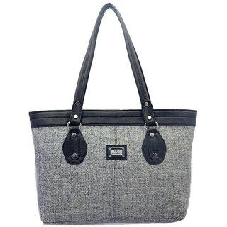 Lady Queen Gray Jute Shoulder Bag