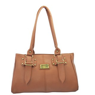 Lady Queen Tan Shoulder Bag