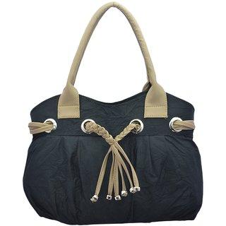 Lady queen Black P.U. Shoulder Plain Bag