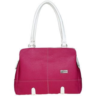 Lady Queen Pink Faux Leather Shoulder Bag