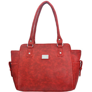 LADY QUEEN Red Casual Shoulder Bag