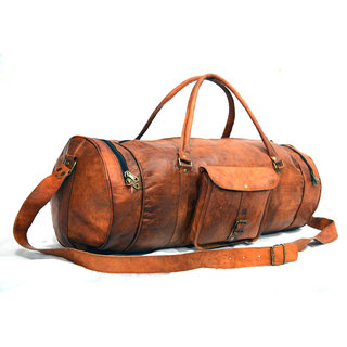 a5396855a842 The House Of Tara Waxed Canvas Duffle, Gym Bag leather travel duffle baG