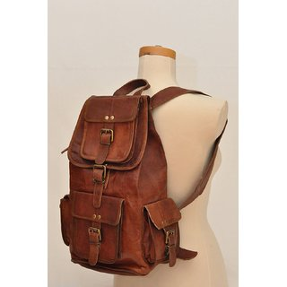 0e5c9387fb Buy Leather Backpack Rucksack For Overnight Travel