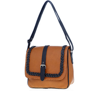 Lady Queen Multicolor Plain Sling Bag