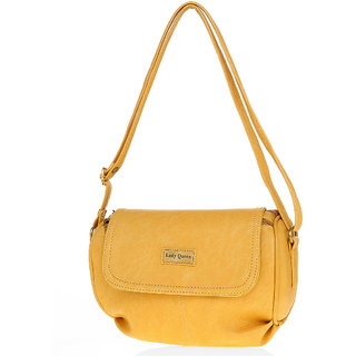 Lady Queen Beige Plain Sling Bag