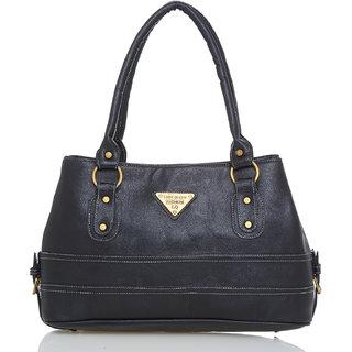 Lady Queen Black Plain Sling Bag