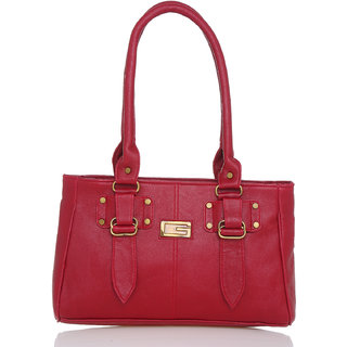 Lady Queen Maroon Plain Sling Bag