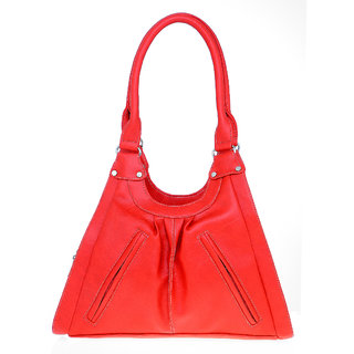 Lady Queen Red Plain Sling Bag