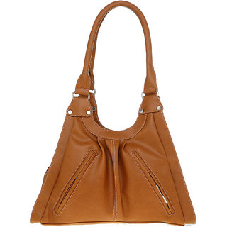 Lady Queen Tan Plain Sling Bag