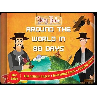 Around the World in 80 Days - Colorful  Informative Hardcover Book For Kids!