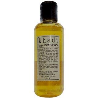 Khadi Lemon Face Wash 210 ML (Pack of 1)