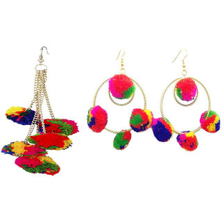 Sparkling Jewellery Gold Plated Multicolor Alloy Hangings for Women-combo