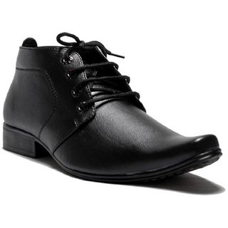 00ra Ankle Length Black Color Office Wear Formal Shoes For Men Long S Boots