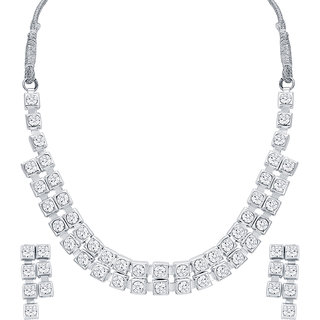 ShoStopper Pretty Rhodium Plated Necklace Set SJ2040NB