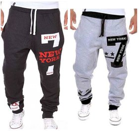 Pack of 2 Trackpants With Zipper Pockets Black & Grey