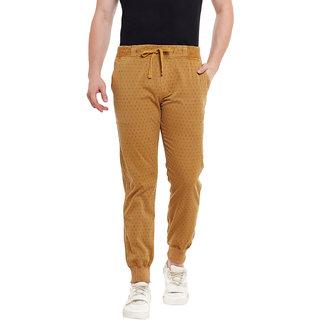 Wear Your Mind Tan Cotton Pyjama For Men