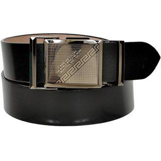 A S Leather Black Wrinkles Free Leather Men's Belt (LB-0013)