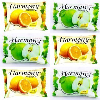 Harmony Fruity Mix Soap ( Pack of 6 -75 gms)