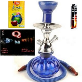 Hookah With Herbal Flavour, Charcoal  Foil Sheets BY HALF  PIZZA ARTS