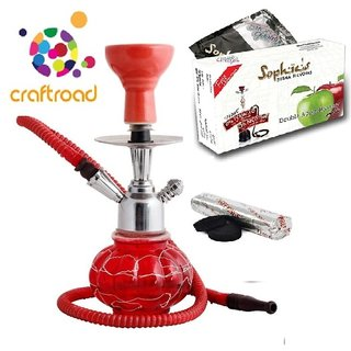 hookah with flavour and coal