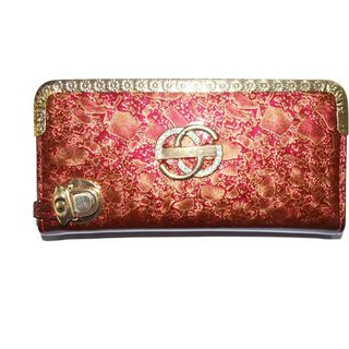 Pin to Pen Maroon Gold Clutch