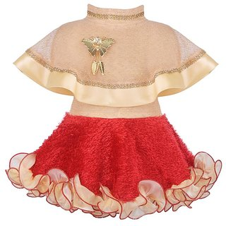 Princess Red Poncho Party Dress