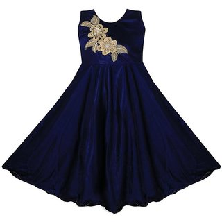 Buy Girl frock dress for baby Girl's Satin Lycra Party ...