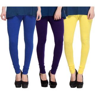 Hothy Multicolor Lycra Legings (Pack of 3)