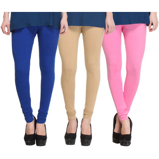 Hothy Multicolor Cotton Lurex Legings (Pack of 3)