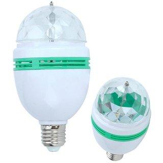 Combo of 2 Full Color Rotating Led Bulb