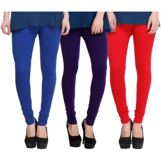 Hothy Multicolor Lycra Legings (Pack of 3)