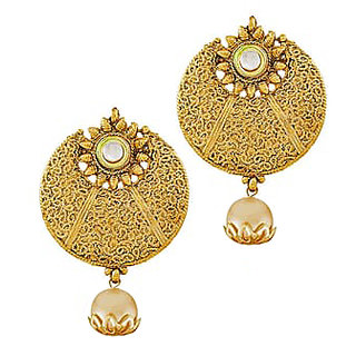 Shostopper Golden Round Netted Design With Pearl Drop SJ6101EN